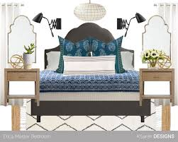 Modern Blue Bedrooms - k sarah designs mood boards