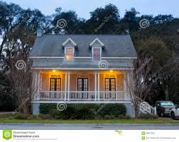 front elevation of house at twilight stock photo image 69057284
