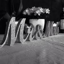 mr mrs wedding table decorations mr and mrs wedding signs glitter mr from sunfla on etsy