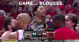 Game Blouses Meme - after hitting the game winning shot funny