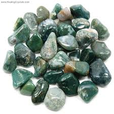 african green opal tumbled moss agate morocco tumbled stones moss agate