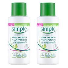 simple hydrating light moisturizer simple kind to skin hydrating light moisturiser 50ml pack of two