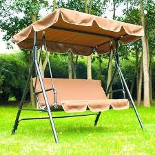 outdoor swing bench with canopy garden patio swing chair 3