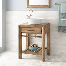 rustic wood sink vanity signature hardware