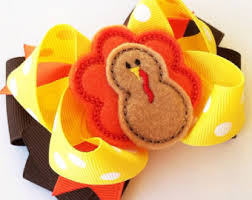 thanksgiving hair bows thanksgiving bows etsy