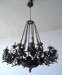 Antique Iron Chandeliers Black Wrought Iron Chandeliers U2013 Eimat Co
