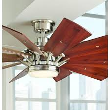 60 Ceiling Fans With Lights Home Decorators Collection Trudeau 60 In Led Brushed Nickel