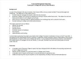 report requirements template daily financial report format financial management reporting
