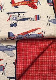 Twin Airplane Bedding by New Sky Hawk Vintage Airplane 5pc Twin Size Quilt Sheets Bedding