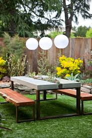 Best 25 Picnic Table Plans Ideas On Pinterest Outdoor Table by Best 25 Concrete Outdoor Table Ideas On Pinterest Concrete