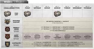 http siege calendar week 1 the winter siege features playlists orders