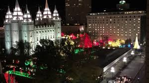 temple square lights 2017 schedule lds church lights up temple square friday good4utah