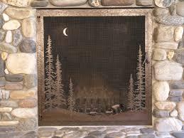 rustic fireplace screens binhminh decoration
