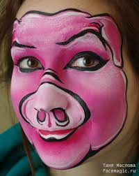 3 little pigs face makeup pig face paint face painting for