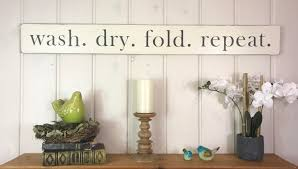 Rustic Laundry Room Decor by Wash Dry Fold Repeat Sign Laundry Room Sign Laundry Room