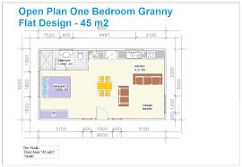 granny flat floor plans 1 bedroom