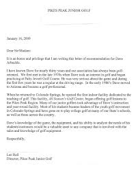 letters of recommendation dave arbuckle golf instruction 719