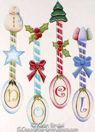 noel spoon ornaments by strubel for more