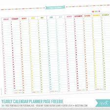 printable annual planner annual birthday calendar 25 unique printable yearly calendar ideas