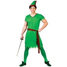 adults lost boy green elf robin hood fancy dress up halloween