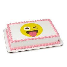wedding cake emoji emoji emoticon winking 2 cake cupcake edible sheet image