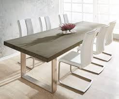 Esstisch Queens Tisch Esszimmer Akazie Esstisch 200x100 Mango Grau Gestell Schmal Beton Optik Haus
