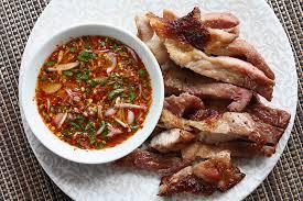 cuisine de base kor moo yaang grilled pork neck kitchen