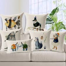 Custom Chair Cushions Fox Birds Elephant Fish Custom Cushion Covers 7 Styles Animal Diy