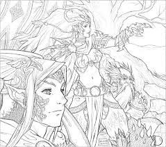 stunning fantasy coloring pages for adults fairy 224 coloring page