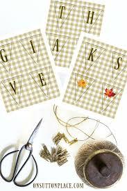 give thanks banner free thanksgiving printable