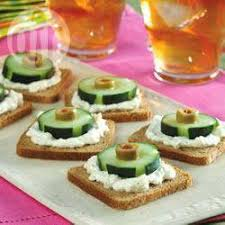 canapes recipe cucumber olive and rye canapes recipe all recipes uk
