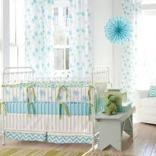Nursery Bedding And Curtains Aqua Dandelion Crib Bedding The Sustainable Spot