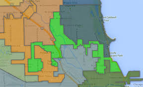 chicago gerrymandering map the most gerrymandered of all the gerrymandered wards chicago