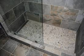 mosaic tile company slate green tile river rock shower floor