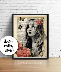 stevie nicks print gypsy roses fleetwood mac original art