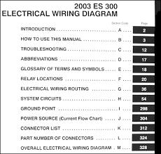 2003 lexus es 300 wiring diagram manual original