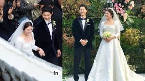 wedding dress song photos of song hye kyo in a wedding dress song joong ki can t