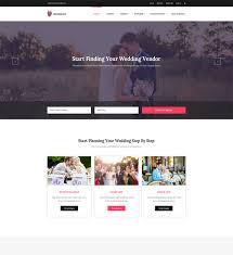 wedding vendor websites 10 best responsive website templates for wedding and wedding