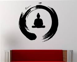 zen circle with buddha wall decal vinyl sticker art decor bedroom zen circle with buddha wall decal vinyl sticker art decor bedroom design mural interior design meditation buddha peace japanese