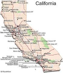 map of cities in california california county map