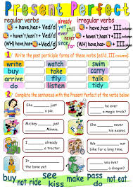 present perfect interactive worksheet present perfect