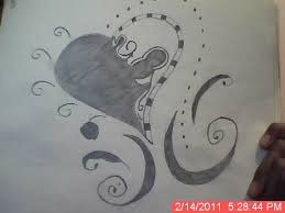 gallery love heart sketches in pencil drawing art gallery