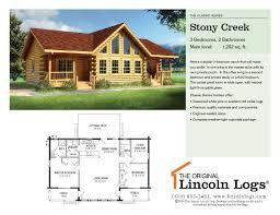 log home floorplan stony creek the original lincoln logs