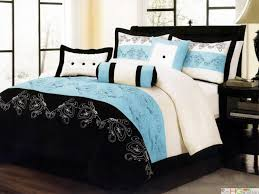 Teal King Size Comforter Sets Black White And Blue Comforter Set Tags Blue And White Comforter