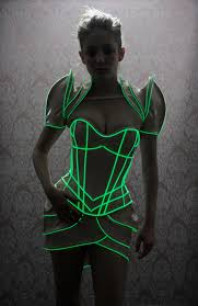 Glow Dark Halloween Costumes Artifice Products Glow Dark Overbust Corset