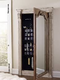 jewlery armoire mirror hooker furniture accents chatelet floor mirror w jewelry armoire