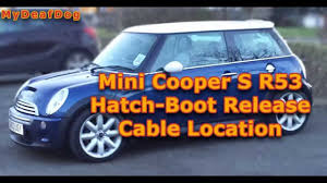 mini cooper s r53 2003 hatchback release cable location youtube