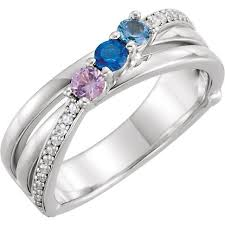 silver mothers ring silver 1 to 3 stones s ring