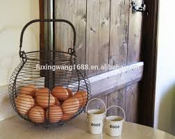 egg basket traditional french country vintage style grey wire