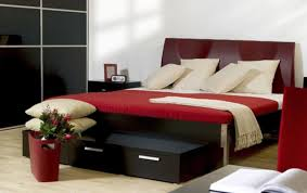 Red White And Black Bedroom Ideas Home Design - Dark red bedroom ideas